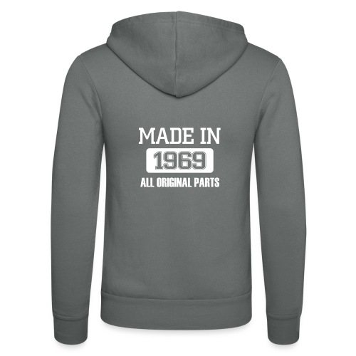 Made in 1969 - Unisex Hooded Jacket by Bella + Canvas