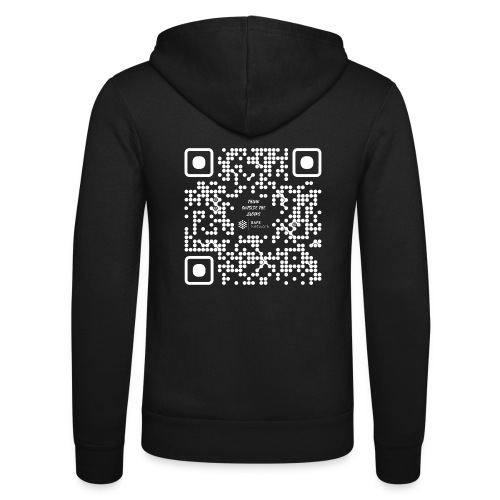 QR The New Internet Should not Be Blockchain Based W - Unisex Hooded Jacket by Bella + Canvas