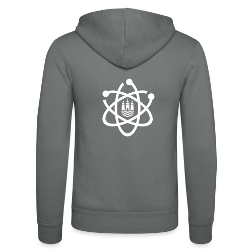 March for Science København logo - Unisex Hooded Jacket by Bella + Canvas