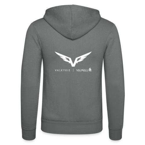 valkyriewhite - Unisex Hooded Jacket by Bella + Canvas