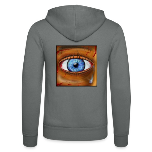 Hyperspace Potato Eye - Unisex Hooded Jacket by Bella + Canvas