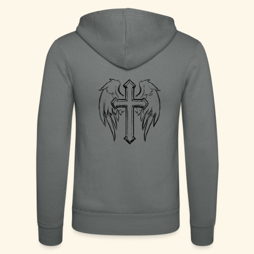 Faith and love - Unisex Hooded Jacket by Bella + Canvas