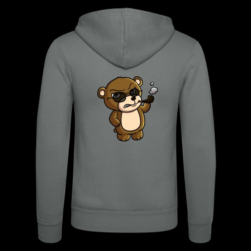 AngryTeddy - Unisex Hooded Jacket by Bella + Canvas