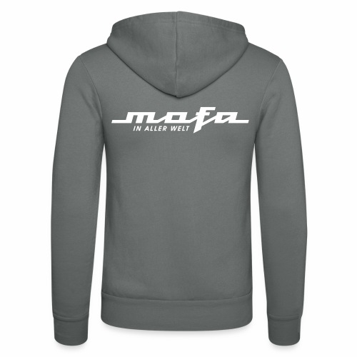 Mofa in aller Welt Logo Parodie (v2) - Unisex Hooded Jacket by Bella + Canvas