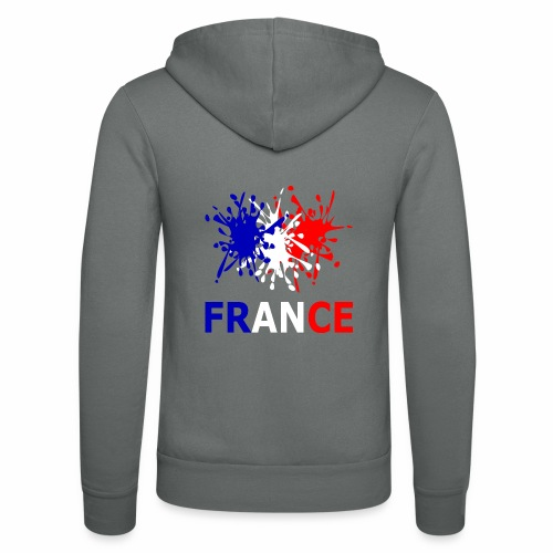 France - red white blue - Unisex Hooded Jacket by Bella + Canvas