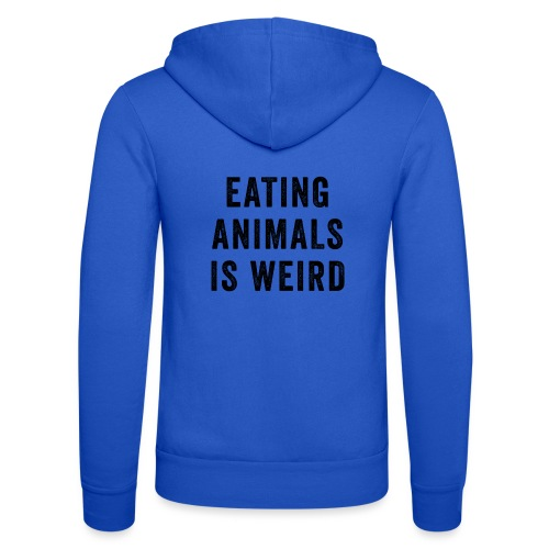 Eating Animals Is Weird Vegan Vegetarian - Unisex hoodie van Bella + Canvas