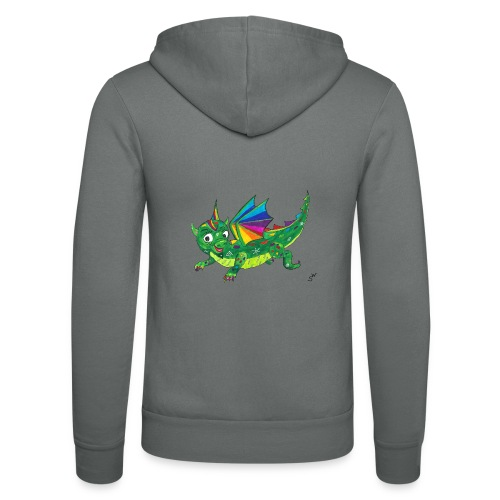happy dragon - Unisex Kapuzenjacke von Bella + Canvas