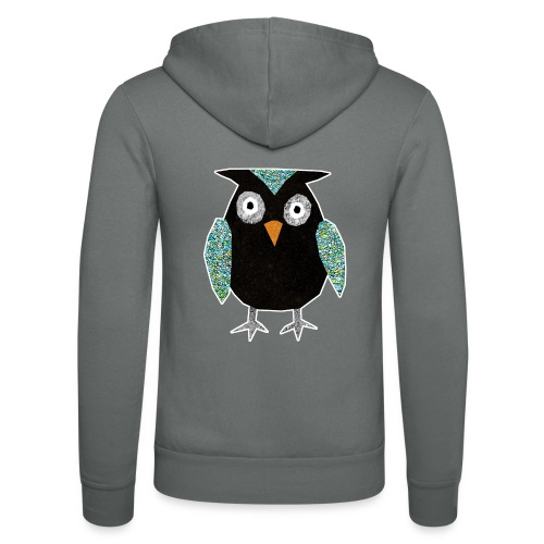 Collage mosaic owl - Unisex Hooded Jacket by Bella + Canvas