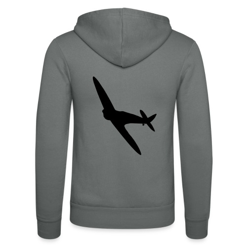 Spitfire Silhouette - Unisex Hooded Jacket by Bella + Canvas