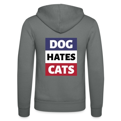 Dog Hates Cats - Unisex Kapuzenjacke von Bella + Canvas