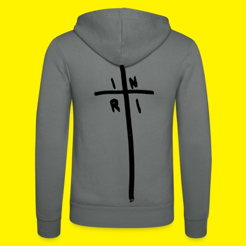 Cross - INRI (Jesus of Nazareth King of Jews) - Unisex Hooded Jacket by Bella + Canvas