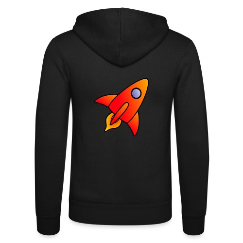 Red Rocket - Unisex Hooded Jacket by Bella + Canvas
