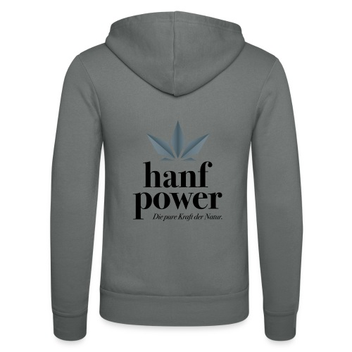 Hanf Power Logo - Unisex Kapuzenjacke von Bella + Canvas