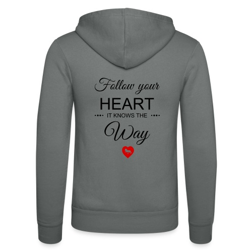 follow your heartbesser - Unisex Kapuzenjacke von Bella + Canvas
