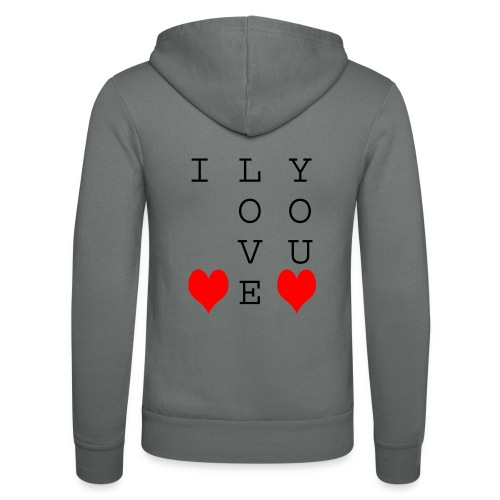 I Love You - Unisex Hooded Jacket by Bella + Canvas