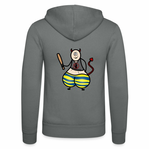 Devil No Touchies Charlie - Unisex Hooded Jacket by Bella + Canvas