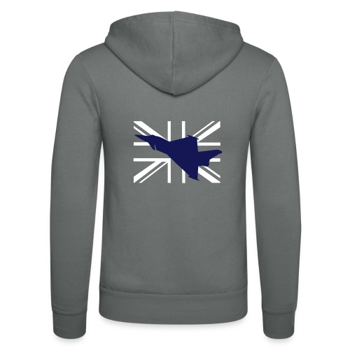 ukflagsmlWhite - Unisex Hooded Jacket by Bella + Canvas