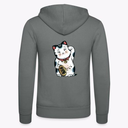 The Lucky Cat - Unisex Hooded Jacket by Bella + Canvas