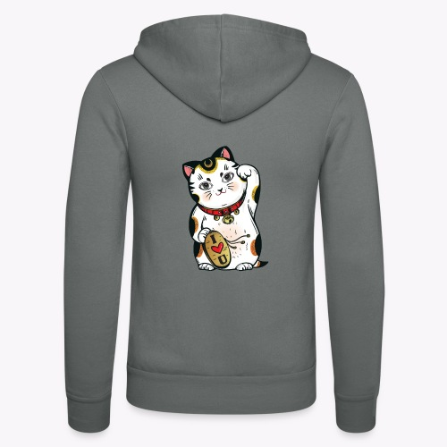 Love Lucky Cat - Unisex Hooded Jacket by Bella + Canvas