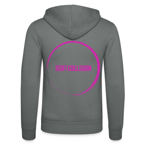 Pink Logo - Unisex Hooded Jacket by Bella + Canvas