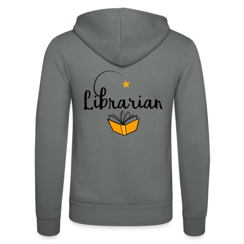 0326 Librarian & Librarian - Unisex Hooded Jacket by Bella + Canvas