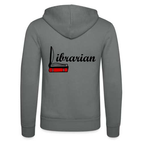 0324 Librarian Librarian Library Book - Unisex Hooded Jacket by Bella + Canvas