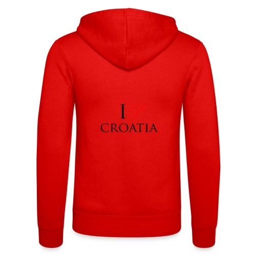 i love croatia - Bluza z kapturem Bella + Canvas typu unisex