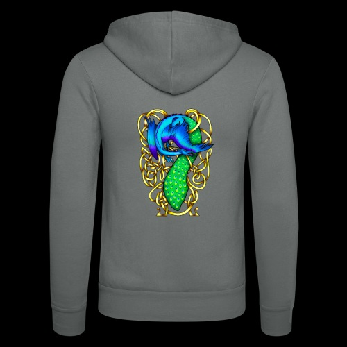 Peacock Dragon - Unisex Hooded Jacket by Bella + Canvas