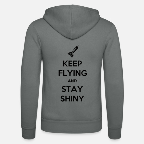 Keep Flying and Stay Shiny - Unisex hoodie van Bella + Canvas