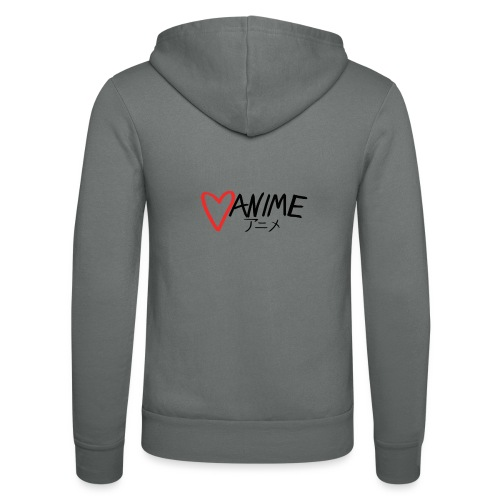Heart Anime - Unisex Hooded Jacket by Bella + Canvas