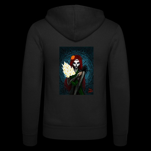 Death and lillies - Unisex Hooded Jacket by Bella + Canvas
