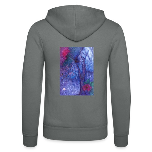 Forest Flower - Bluza z kapturem Bella + Canvas typu unisex