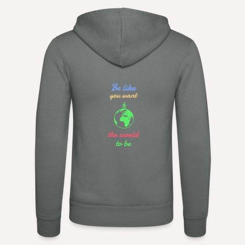 Caring About climate? Save The Planet Print Design - Unisex Hooded Jacket by Bella + Canvas