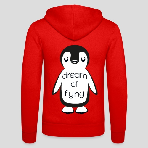 Dream of Flying Pinguin - Unisex Hooded Jacket by Bella + Canvas