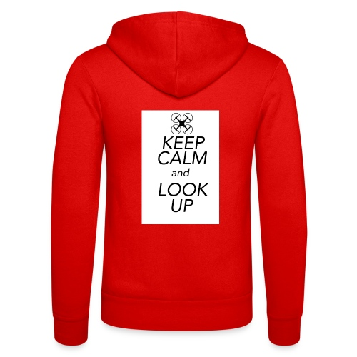 Keep Calm and Look Up - Unisex hoodie van Bella + Canvas