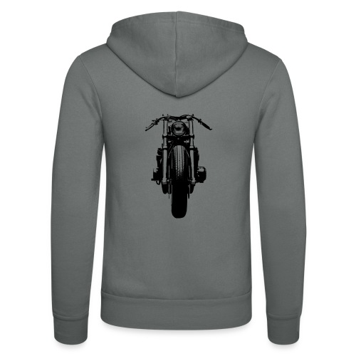 Motorcycle Front - Unisex Hooded Jacket by Bella + Canvas