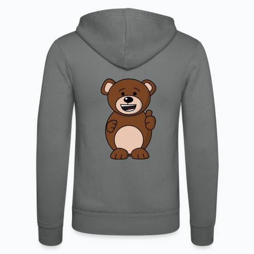 Bruno Bear Happy - Appelsin - Luvjacka unisex från Bella + Canvas