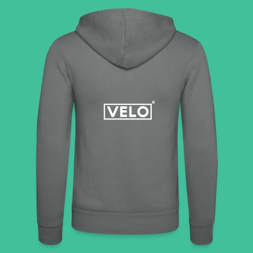 Velo Icon - Charcoal Clr - Unisex Hooded Jacket by Bella + Canvas