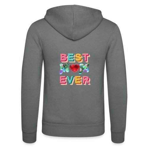 best mom ever5 - Luvjacka unisex från Bella + Canvas
