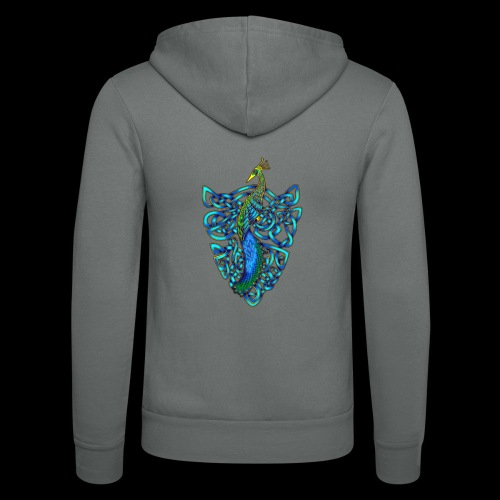 Peacock - Unisex Hooded Jacket by Bella + Canvas