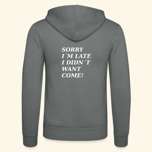 SORRY - Unisex Hooded Jacket by Bella + Canvas