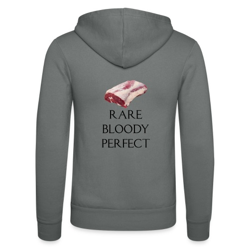 Rare Bloody Perfect , beef for the meat eater - Unisex hættejakke fra Bella + Canvas