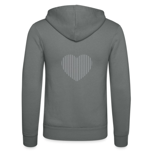 heart_striped.png - Unisex Hooded Jacket by Bella + Canvas