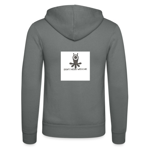 Dont mess whith me logo - Unisex Hooded Jacket by Bella + Canvas