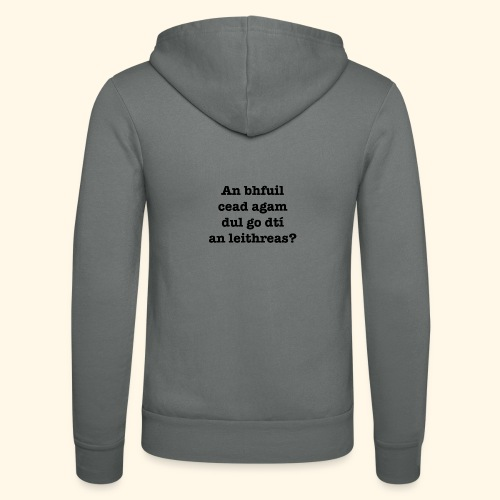 An Bhfuil Cead? - Unisex Hooded Jacket by Bella + Canvas