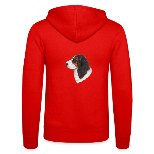 bassethound color - Unisex hættejakke fra Bella + Canvas