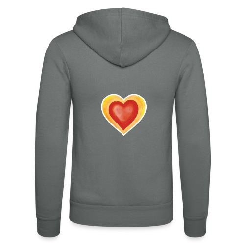 Love - Unisex Hooded Jacket by Bella + Canvas