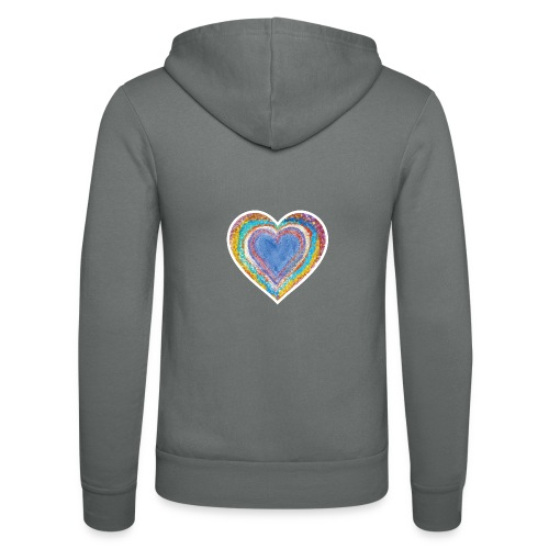 Heart Vibes - Unisex Hooded Jacket by Bella + Canvas