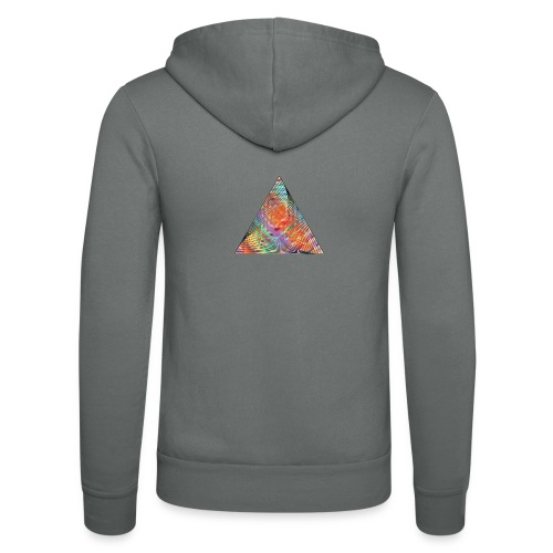 Triangle of twisted color - Unisex Hooded Jacket by Bella + Canvas