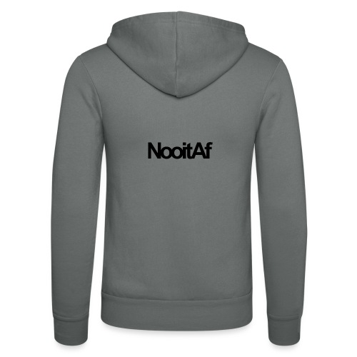 NooitAf.txt - Unisex Hooded Jacket by Bella + Canvas